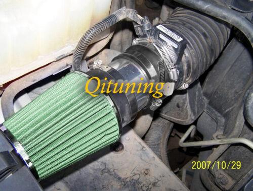 Black Green Air Intake + Filter For 1999-2006 Chevy Silverado 1500 4.8 5.3 6.0