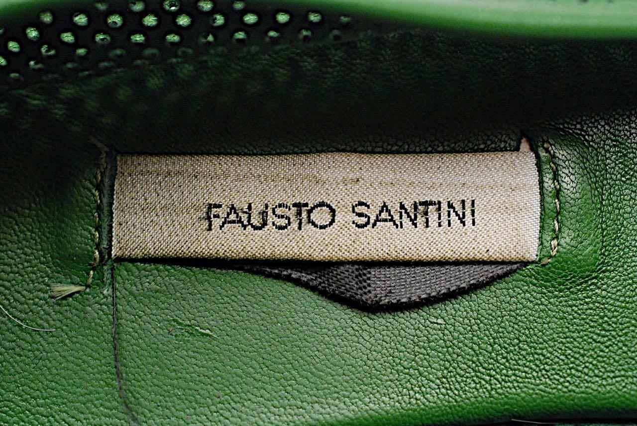 Fausto Santini Vert Vert Vert Forêt perforé 100% cuir Flats - 37 US7 - Ultra doux 8bb70f