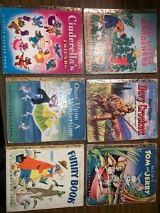 Lot-6-1950s-Golden-Book-Inc-Once-Upon-A-Wintertime-Funny-Book-Cinderella-s-Fri