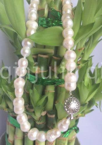 """Hot 10-16mm raras blanco barroco collar de perlas cultivadas 18//24//36/"""" AAA"""