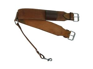 WESTERN ROPING BACK CINCH TOOLED LEATHER HORSE PLEASURE SADDLE REAR GIRTH TACK