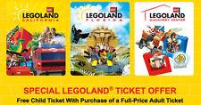 Legoland KIDS Go Free /w Adult California or Florida Good 6/30/2017  ONLINE