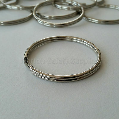 1 LARGE JAILERS HEAVY DUTY 58mm SPLIT RING...KEYRING fob.SEE DISCOUNTS AVAILABLE