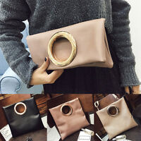NEW Women Ladies Oversized Envelope FOLD Clutch Shoulder Bag Party Purse Bag