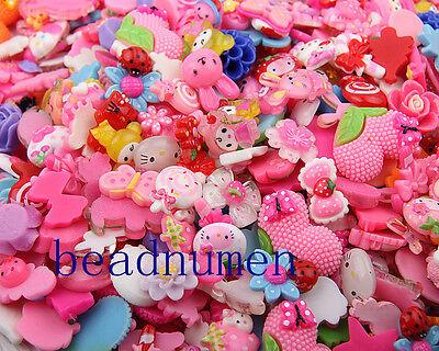 200pcs Pink Cat Flatbacks Jewelry Making