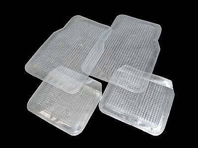 CLEAR Car Floor Mats 4PC Set Front & Rear USA SELLER