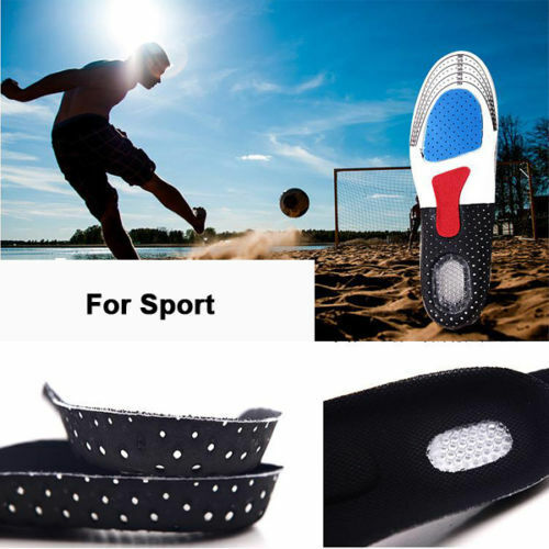 Men/'s Gel Orthotic Sport Running Insoles Insert Shoe Pad Arch Support Cushion HD