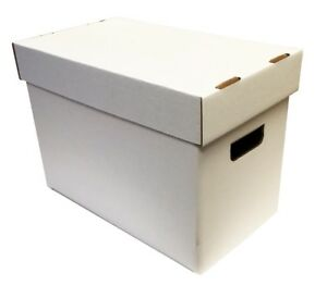Image Is Loading 5 Max Pro Cardboard Magazine Storage Boxes Mag