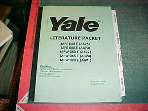 Details about 2002 2003 YALE FORK LIFT TRUCK MAINTENANCE, USER INSTRUCTIONS, on