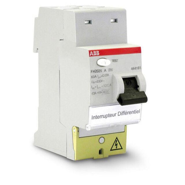 Interrupteur différentiel automatique 63A - 30mA Type A ABB 444161 - NEUF