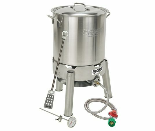 s l1600 Home Brewing Kit Beer Equipment Stockpot Propane Burner Thermometer Stir Paddle