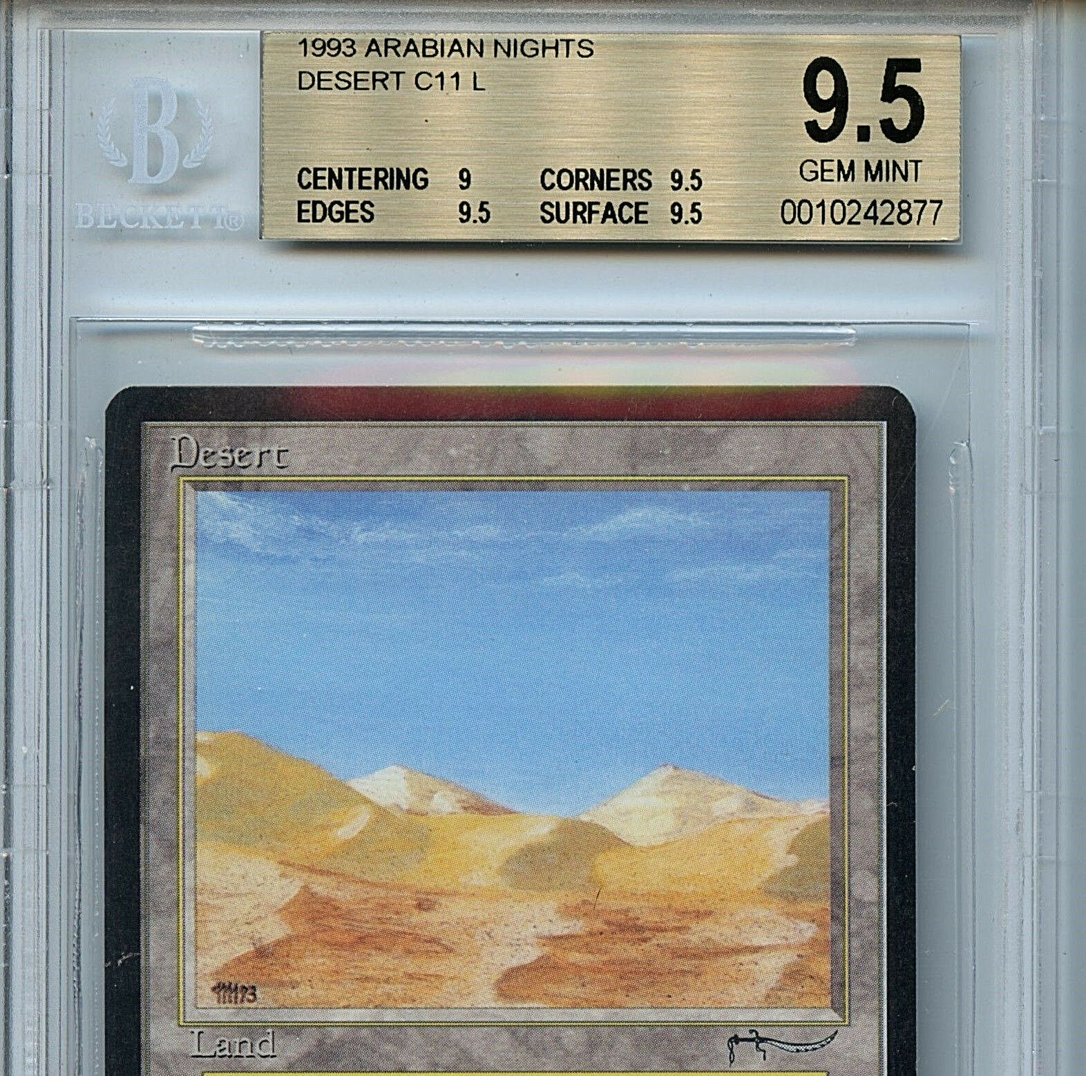 MTG Arabian Nights Desert BGS 9.5 Gem MINT Card Card Card Magic the Gathering WOTC 2877 30ce43