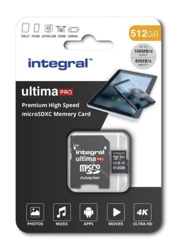 Integral 512GB Micro SDXC Memoria Tarjeta UHS-I U3 Clase 10 V30 Android A1