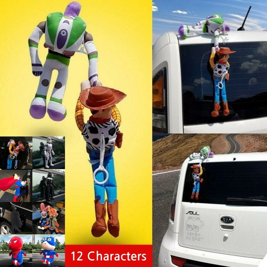 Cartoon Character Toy Story Woody Buzz Set Exterior Car Decor Accessory Doll