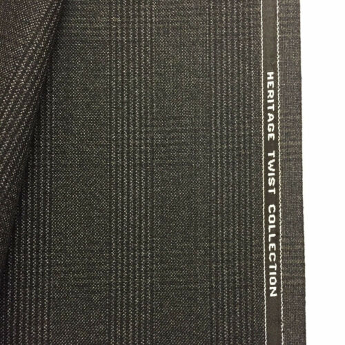 WILLIAM HALSTEAD Dark Grey Check Pure New Wool Jacket// Suit Fabric. 395g
