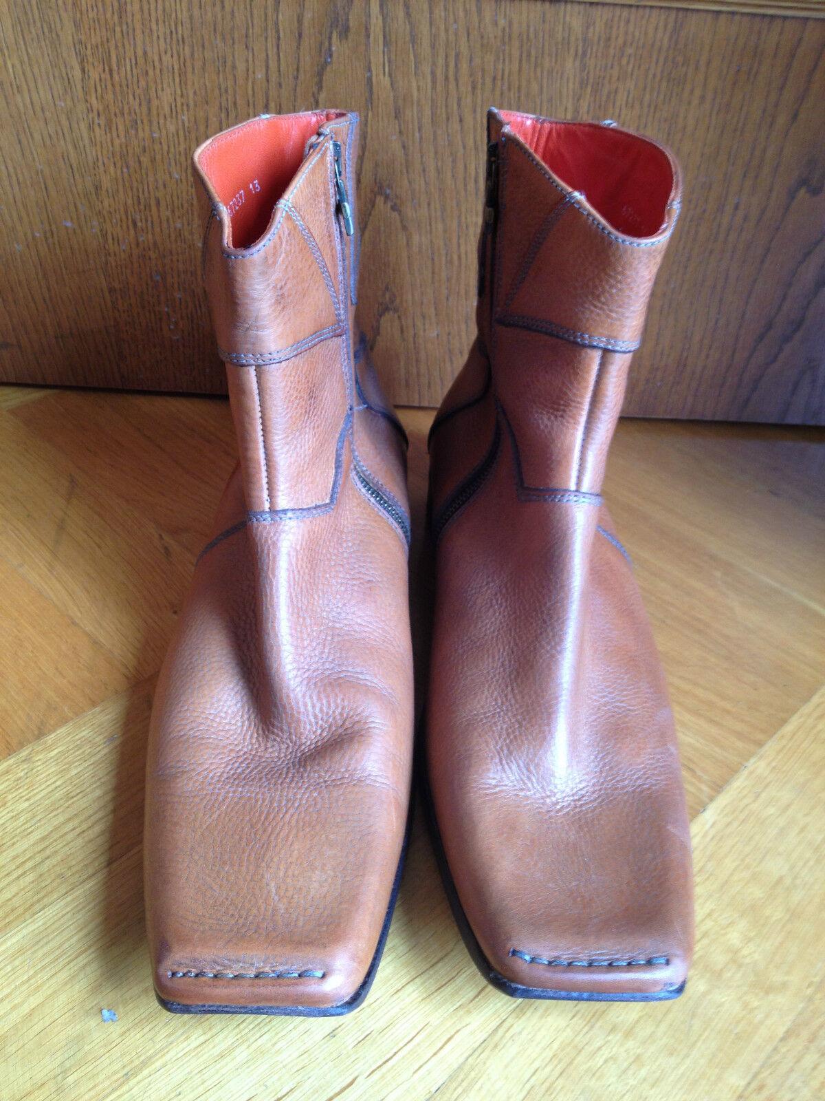 MARK NASON BRAUN BROWN ANKLE Stiefel HALBSTIEFEL US 13 EUR 46 UK 12