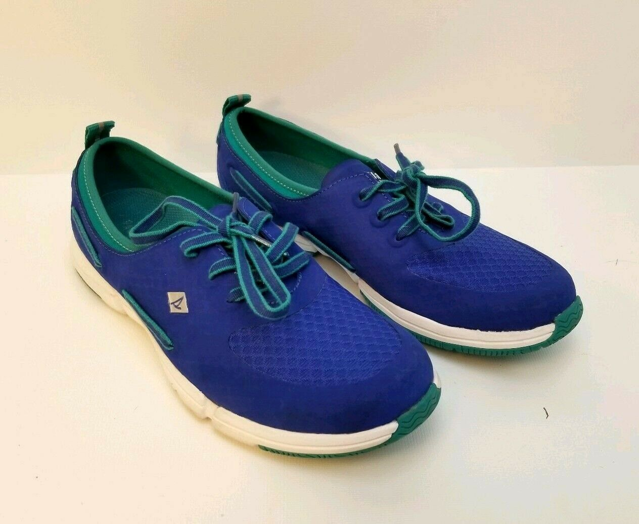 Womens Paul Sperry STS95481 Size 7.5M Blue Teal Boat Style Casual Shoes E16