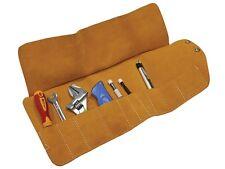 Faithfull FAILTR10 10 pocket leather tool roll TR10 toolroll