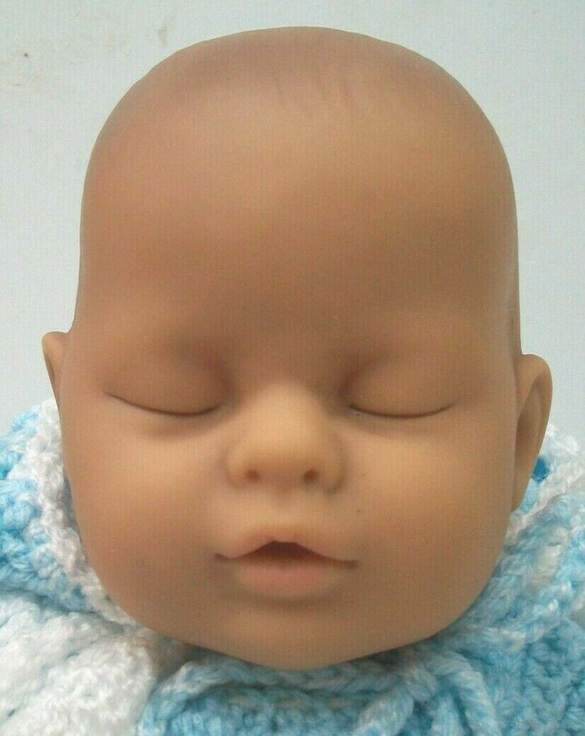 west german lissi specialities reborn vinyl baby doll 20in crocheted clothes