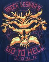 Brock Lesnar's Go To Hell Tour T Shirt Men's Medium Black Wwe Wwf Ecw Ufc