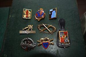 Lot-de-8-insigne-militaire-pucelle-armee-legion-artillerie-marine-brevet-TDM