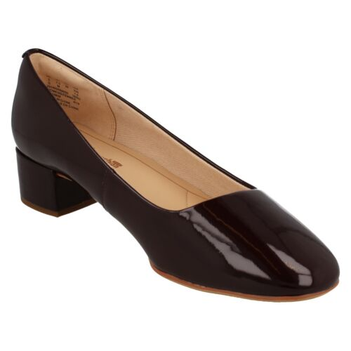LADIES CLARKS LEATHER SLIP ON SMART FORMAL OFFICE COURT SHOES ORABELLA ALICE