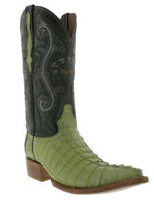 020eba3182d Mens Genuine Green Alligator Crocodile Leather Western Cowboy Boots ...