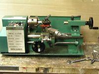 "CENTRAL MACHINERY 7"" x 10"" PRECISION Mini Metal Lathe NICE CONDITION"