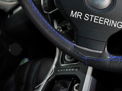 LEATHER STEERING WHEEL COVER R BLUE DOUBLE STITCH FOR MERCEDES G CLASS W460 79