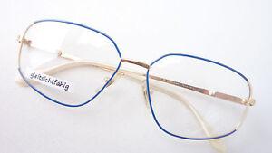 Kleidung & Accessoires Damen Brille Gestell Blau Gold Stabil Markenfassung Cottet Occhiali Metall Sizem 100% Hochwertige Materialien