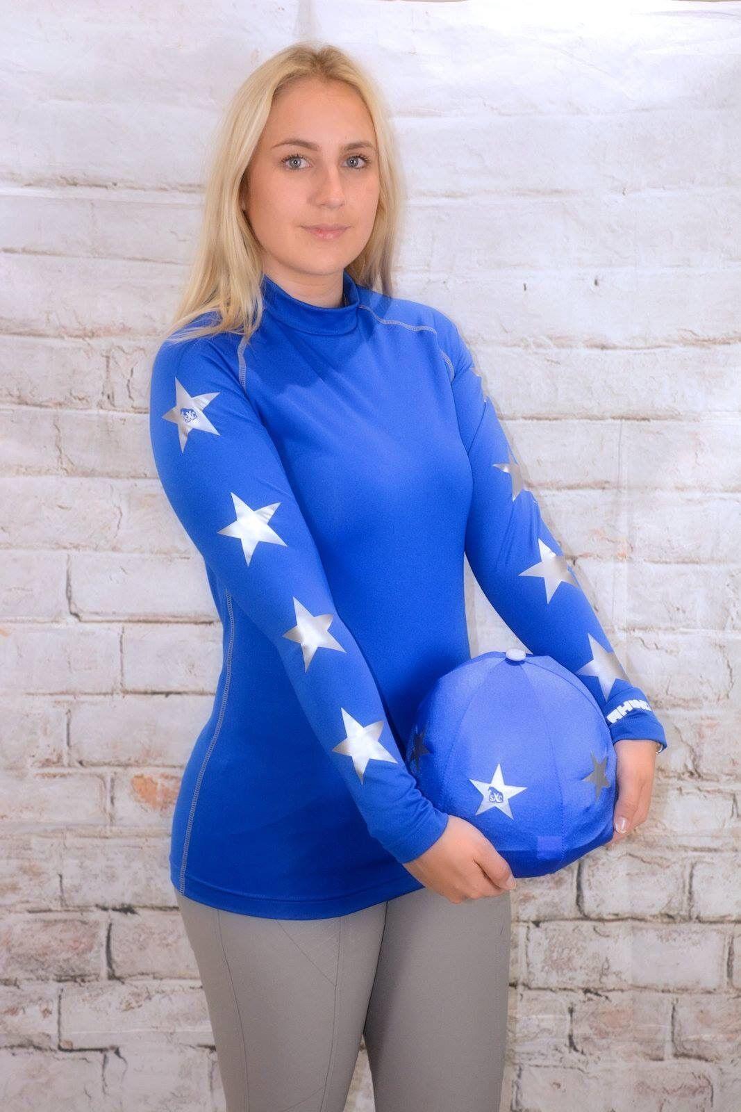 SXC ECO cross country Coloreeeeee XC stelle CONCORSO COMPLETO Equitazione Cappello seta Cover personalizzata