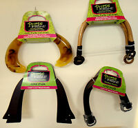Purse Handbag Handles Lot Of Four (4) All Different Purse-n-alize-it Wood +