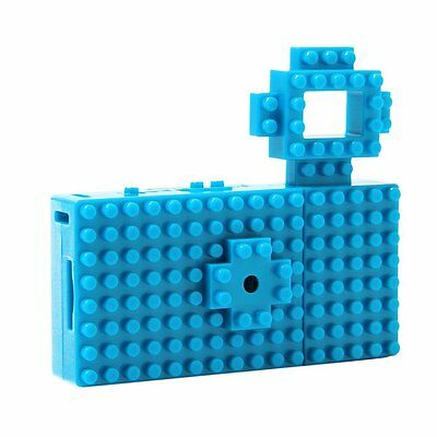 Toy Block Digital Camera customizable nano blox Blue/Green Toi Kamera Kawaii