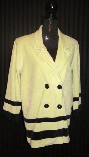 Green Fifth Black Folio Petite Medium Avenue Taglia Velour Jacket Lime Saks XdHqIIw