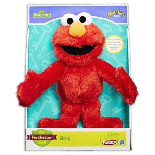 """Elmo Let/'s Cuddle 11/""""//28cm Furchester Hotel CBeebies Plush Toy Doll Playskool"""