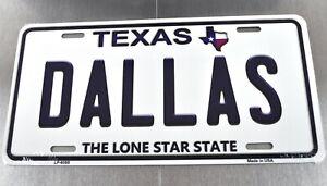 USA Auto Nummernschild License Plate Deko Blechschild Dallas Texas