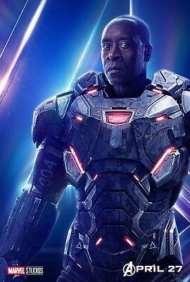 Poster A3 Vengadores Avengers Infinity Maquina De Guerra War Machine Hero