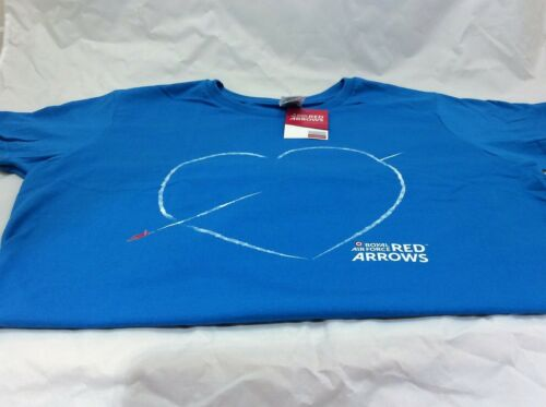 """RAF Red Arrows  2019  Ladies T Shirt   /""""Heart/""""officially licensed product"""