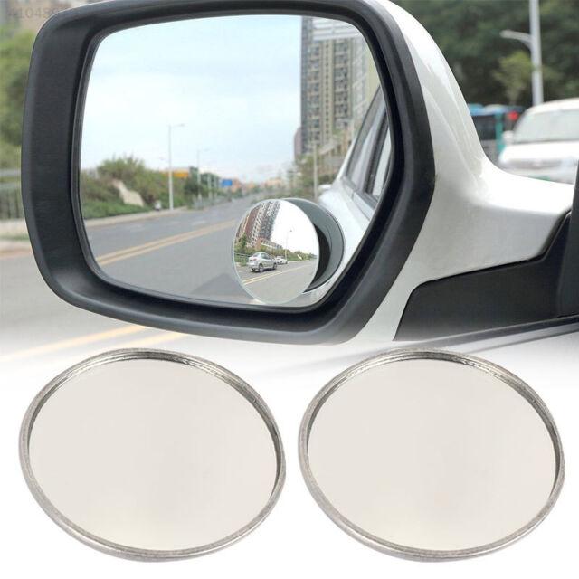 Ampper Blind Spot Mirror Pack of 2 2 Round HD Glass Frameless Convex Rear View Mirror