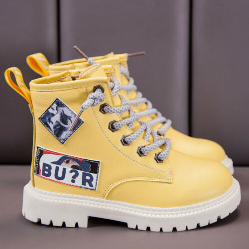Kids Boys Girls Martin Boots Ankle Shoes High Top Sneakers Casual Shoes Trainer