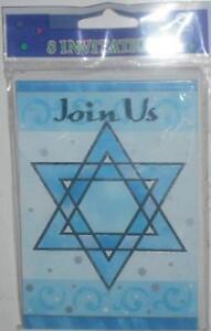 Jewish Simcha Celebration Invitations Shimmering Star Invites Bris