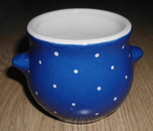 Napf kleine Aufbewahrungsdose Töpfchen Keramik Blau /& weißen Punkten Zach Meißen