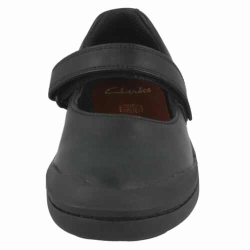 SALE GIRLS ROCK SPARK BLACK LEATHER RIP TAPE SHOES