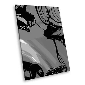 AB324-Woman-Black-White-Abstract-Portrait-Canvas-Picture-Prints-Small-Wall-Art