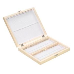 Details About Microscope Slide Storage Wooden Box Specimen Holding Storage Case W Clasp M8u7