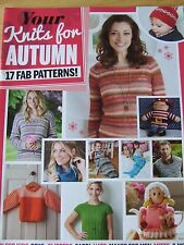 KNITS FOR AUTUMN MAGAZINE SIMPLY KNITTING SUPPLEMENT 17 FAB PATTERNS SLIPPERS ME