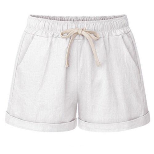 Damen Sommer Shorts Hot Pants Kurze Hose Freizethose Sommerhose Strandhose 36-50