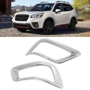 Chrome Rear+Front Fog Light Cover trim for Subaru Forester 2013-2015 Full Set