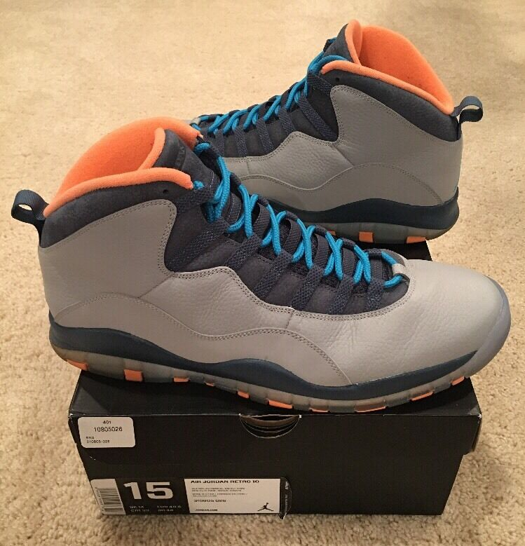 the latest 3e362 f0007 ... germany nike x air jordan retro 10 x nike bobcats gris oscuro polvo  azul navy naranja
