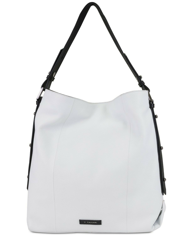 Tahari Parker Bucket Pearl Leather Bag